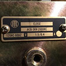 ACB 2002 HRC Shunt Trip. ACB 200RC,, 198939 120 Volt Close
