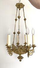 Antique Victorian Ormolu Bronze Russian Baltic Gothic  Chandelier Ceiling Lamp