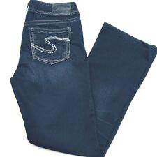 Silver Jeans Suki Womens 29x29 Dark Wash Mid Rise Bootcut