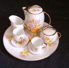 Miniature Muted Floral Tea Set Porcelain Retired Child's Ranger Gift