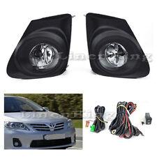 Fog Lights Kit Bumper Light Lamps - Clear For 11-13 Toyota Corolla FL7012