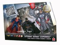 DC JUSTICE LEAGUE MOVIE 3 PACK SUPERMAN BATMAN AND STEPPENWOLF FIGURES MATTEL