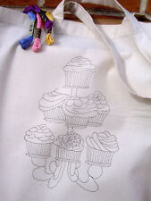 cupcake Tote bag to embroider Eco cotton