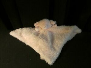 Blankets and Beyond Teddy Bear Security Blanket Baby White Swirl Plush Lovey