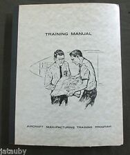Vintage BOEING AIRCRAFT MANUFACTURING TRAINING MANUAL BLUEPRINT STUDY GUIDE