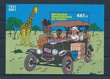 [50338] Rep. Dem. Congo 2001 Tintin Sheet Joint issue with Belgium MNH