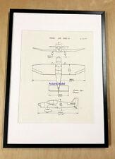 Aviation Reproduction plan 3 vues JODEL DR1050