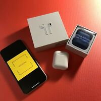 Apple AirPods 2nd Generation with Charging Case - White / case cover as a GIFT