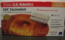 3Com US Robotics 56k External FaxModem for Macintosh Includes V.90 56K standard