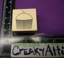 Cherry Cupcake Rubber Stamp Memory Box Retired C1372 Creakyattic