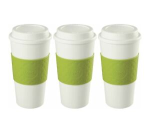 Copco Acadia Insulated Travel Mug Non Slip Sleeve BPA Free 16 Oz 3 Pack, Green