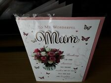 MUM BIRTHDAY CARD & ENVELOPE LOVELY 8 PAGE COLOUR INSERT PRELUDE ROSES FREEPOST