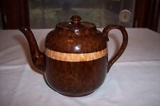 Beautiful Vintage Gibsons Pottery Brown & Yellow Teapot England