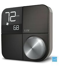 Kono Smart Wi-Fi Thermostat with Interchangeable Black Stainless Steel Faceplate