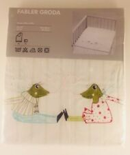 """New! Ikea Fabler Groda Frogs Quilt Cover Pillowcase 43"""" X 49"""""""