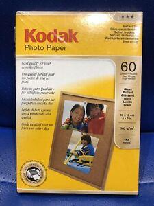 BRAND NEW KODAK GLOSS PHOTO PAPER 60 SHEETS 10 X 15 CM INSTANT DRY STILL SEALED