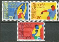 LIECHTENSTEIN Scott# 784/786 MNH set. Sin Fijasellos Olimpiada Los Angeles 1984