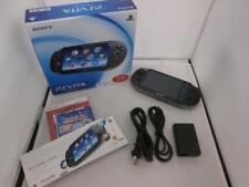 Playstation vita 3G/Wi-Fi model CRISTAL BLACK PCH-1100 AB01 PS Japan