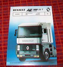 Renault AE 380.22T L.S.W. Tractor Unidad 6x4 especificación Europa de junio de 1990