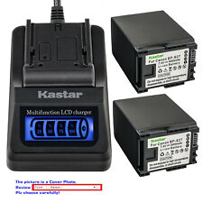 Kastar Battery LCD Quick Charger for Canon BP-827 BP819 BP-808 & Canon CG-800