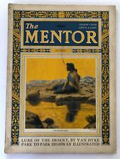 Rare Vintage The Mentor Magazine July 1924 Lure of the Desert by Van Dyke