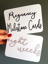 Pregnancy Milestone bump cards photo prop pregnancy gift (a1)