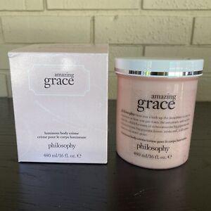 Philosophy NEW Amazing Grace Luminous Body Crème USA Made 16 fl oz Boxed