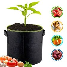 5 Pack Plant Vegetables Grow Bags Non-Woven Pots with Handles Garden Supplies