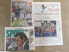 FA CUP FINAL 2018 MAN UNITED v CHELSEA UK Newspaper Clippings Pack Eden Hazard