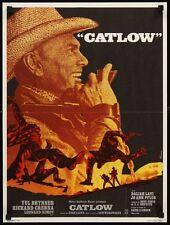 CATLOW French petite movie poster YUL BRYNNER LEONARD NIMOY WESTERN Ferracci