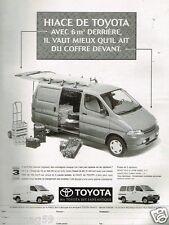 Publicité advertising 1996 Fourgon utilitaire Hi Ace de Toyota