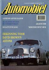1990 HET AUTOMOBIEL MAGAZIN 120 SAAB 96 BUGATTI PUR SANG ABARTH 2200 500K