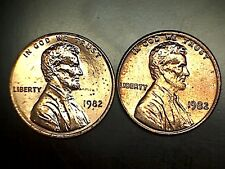1982 PD Lincoln Memorial Cent Penny 7 Coin Set Brilliant Uncirculated From Rolls