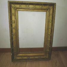 Ancien cadre style Restauration bois stuc doré palmettes