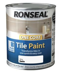 Ronseal One Coat Tile Paint 750ml All Colours -Fast Shipping Free P&P