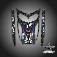 SKI-DOO REV MXZ SNOWMOBILE SLED WRAP GRAPHICS HOOD DECAL 03-07 EVIL JOKER BLUE