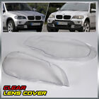 2x Headlight Lens Lamp Cover Lampshade Fit For Bmw X5 E70 07-12 4-door