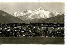 Geneve-Geneva-Mont Blanc Mountain-Switzerland-RPPC-Vintage Real Photo Postcard