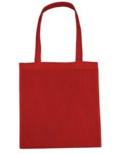 30x Mixed Colour Cotton Tote Bag 42x38cm Re-Use Shopper Bags - Wholesale Joblot