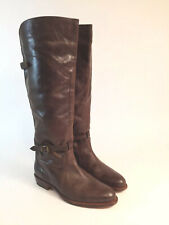 FRYE Women's 9 Durado Buckle Riding Equestrian Boots Brown Leather 71561 Spain