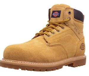 Dickies MAVERICK PT WELLINGTON Brown Suede Leather Pull On Boots