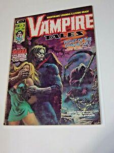 Vampire Tales 3 1973 7.0 FN/VF 2nd Satana Great Morbius Cover