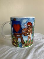 💘Starbucks Cupid Painting Hearts Barista 2000 Collector Series Coffee Mug 🔥