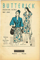 Digital Download Butterick Fashion Flyer June 1908 Small Sewing Pattern Catalog