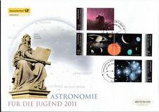 BRD 2011 Deutsche Post FDC MiNr. 2883-2886  Jugend Astronomie
