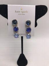 $68  Kate Spade bright ideas clear drop  Earrings  CZ   Gold tone M45