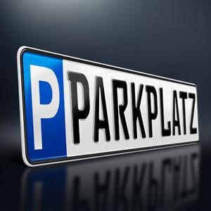 Parkplatzschild mit Wunschtext | Parkplatz Kennzeichen | Wunschkennzeichen | DHL