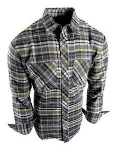 Flannel Plaid Shirt Mens Big Sizes Button Pockets 11 Cool New Colors 2XL 3XL 4XL