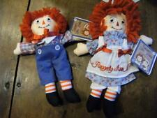 Raggedy Ann and Andy Doll 8'' Hasbro By Aurora Soft Plush NWT.  Great deal!