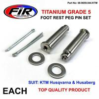 TITANIUM CNC FOOTPEG MOUNTING PIN CLIP SET HUSQVARNA FC250 FC350 FC450